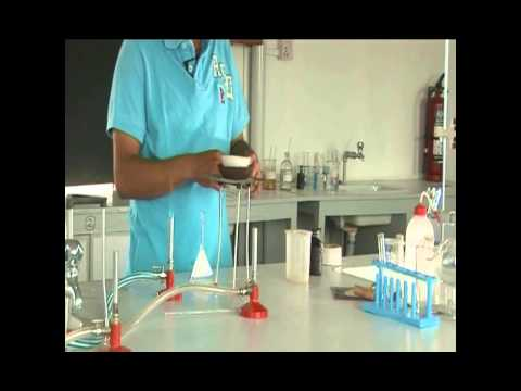Lab demonstration separating of sand and camphor using Sublimation
