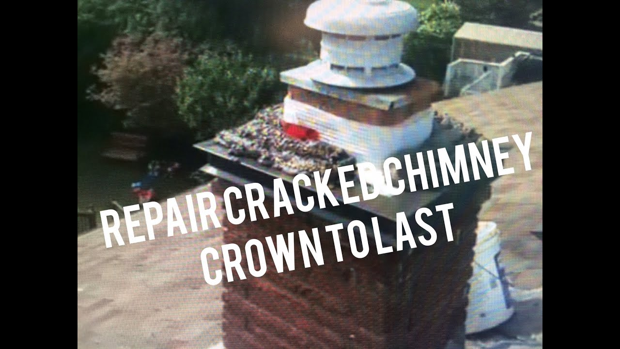 repair cracked chimney crown add top sheet metal flashing cap