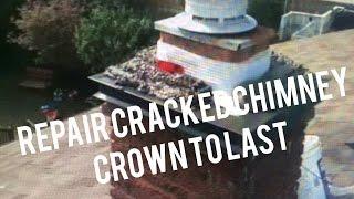 Repair Cracked Chimney Crown - Add Top Sheet Metal Flashing Cap  - Flue Guru