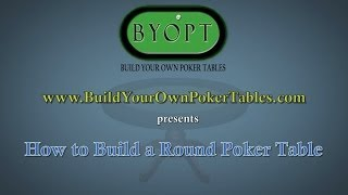 How To Build A Round Poker Table Animation - 4""