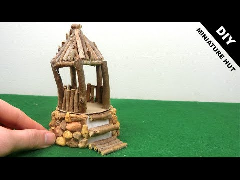 DIY Wooden Miniature Hut #16 | Easy Craft idea
