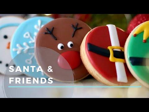 beginner-christmas-cookies-(santa,-rudolph,-gingerbread,-snowman-&-snowflake)