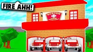 I MADE A FIRE STATION ON BLOXBURG! (Roblox Bloxburg) Roblox Roleplay