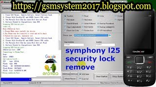 symphony l25 security lock remove by Gsm System
