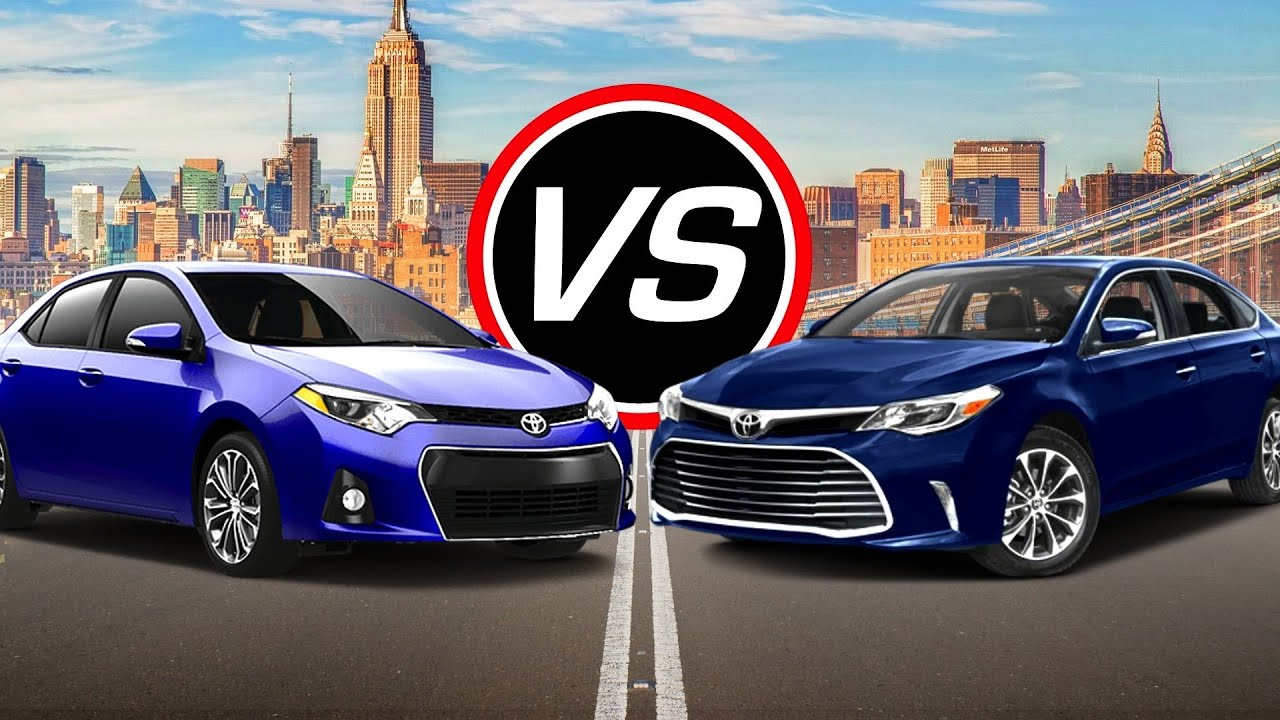 2016 Toyota Corolla ECO vs Avalon Spec parison