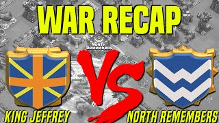 Clash of Clans | War Recap | King Jeffrey vs. North Remembers | Potluck July 16