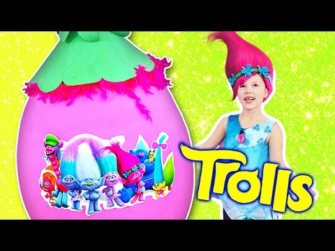 TROLLS GIANT EGG ✿ Saving Trolls with Poppy! Toys, Surprises, Songs, Parody