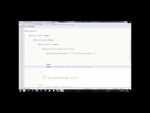 Login And Register - The Register Script Part 3