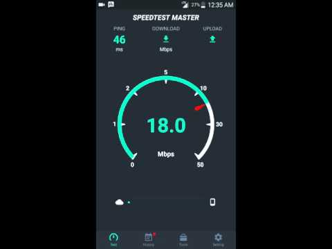 Speed test on the Sprint 4G LTE