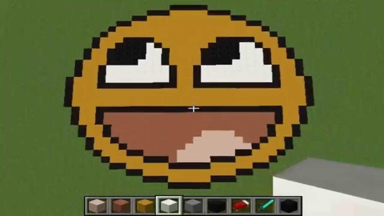 The Smiley Emoji Minecraft Pixel Art Creative Builds 8 Happy Illicty Music