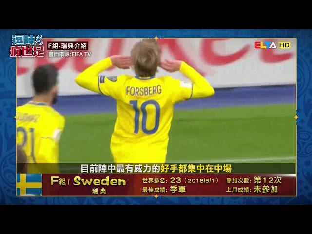 愛爾達【逗陣瘋世足】F組瑞典介紹