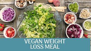 vegan weight loss meal prep - weight loss vegan meals // flat tummy meal prep
