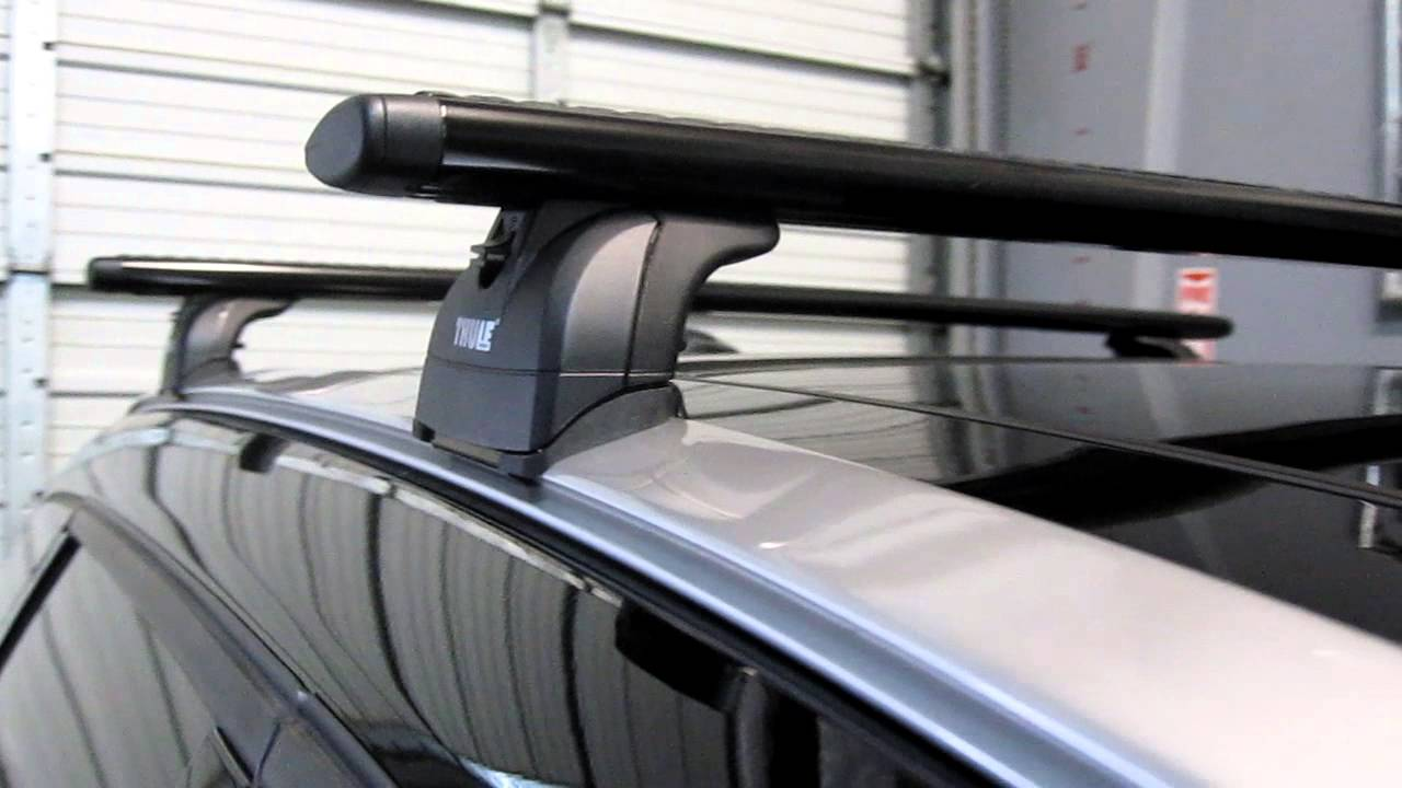 2012 Volvo XC60 with Thule 460R Podium AeroBlade Roof Rack ...