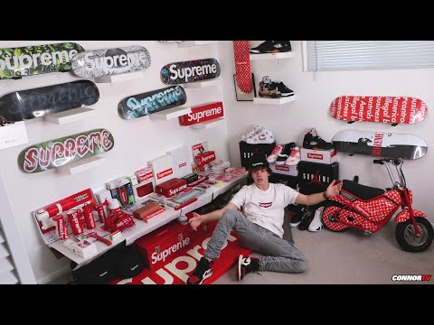 My Entire $25,000 Supreme Collection! INSANE Sneakers Clothing Accessories