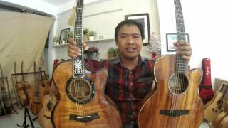 GTGuitarshop guitar review - Ayers SJ09cx VS Thuanguitar PS custom Koa