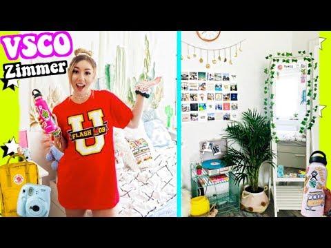 XXL VSCO GIRL ZIMMER roomtour für 24 STUNDEN  (Shopping Haul Diy Einrichten Wohnung)