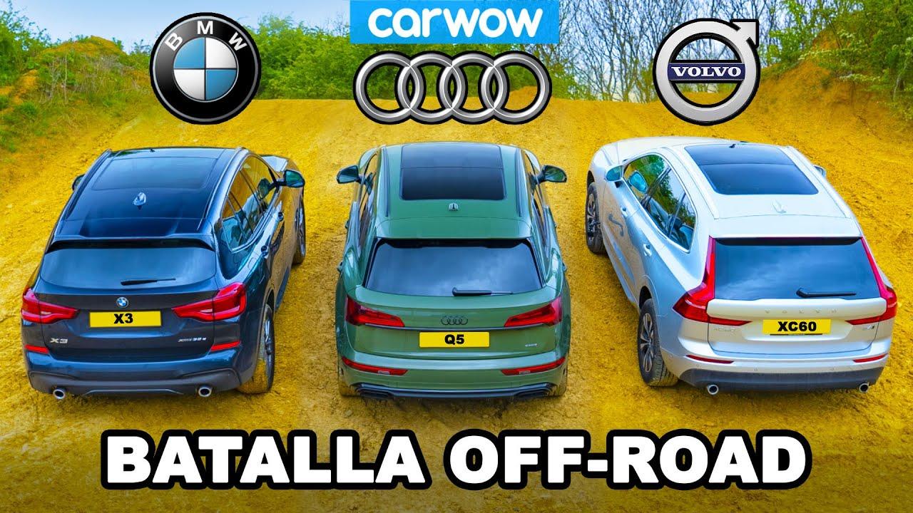 BMW X3 vs Audi Q5 vs Volvo XC60: ¡ARRANCONES CUESTA ARRIBA y cuál es el mejor TODOTERRENO!