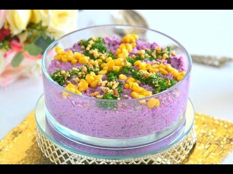 Davet  Sofralarınız  İçin  Nefis Yoğurtlu Mor Lahana Salatası ( Pişirerek)