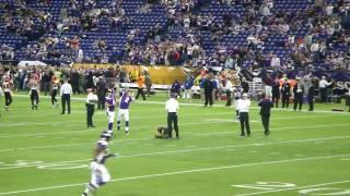MN Vikings vs Bengals 12/13/09 - Vikings Pre-game