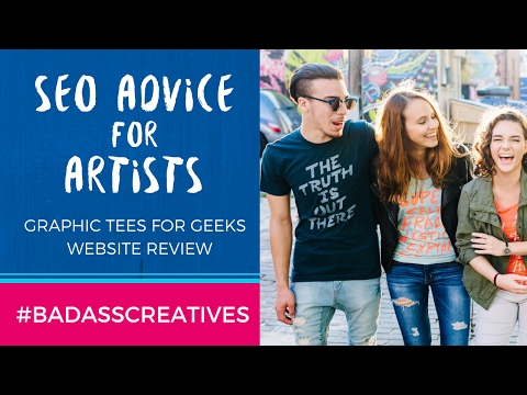 Handmade Graphic Tees for Geeks Website Review: SEO Advice for Artists