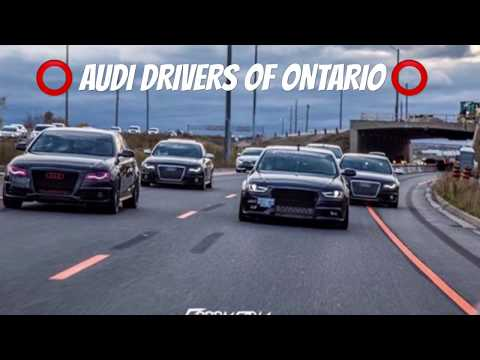 AUDI DRIVERS of ONTARIO in Downtown Toronto - Member Cruise