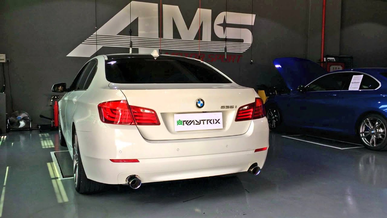 bmw f10 535i loud revs and launch start with armytrix. Black Bedroom Furniture Sets. Home Design Ideas