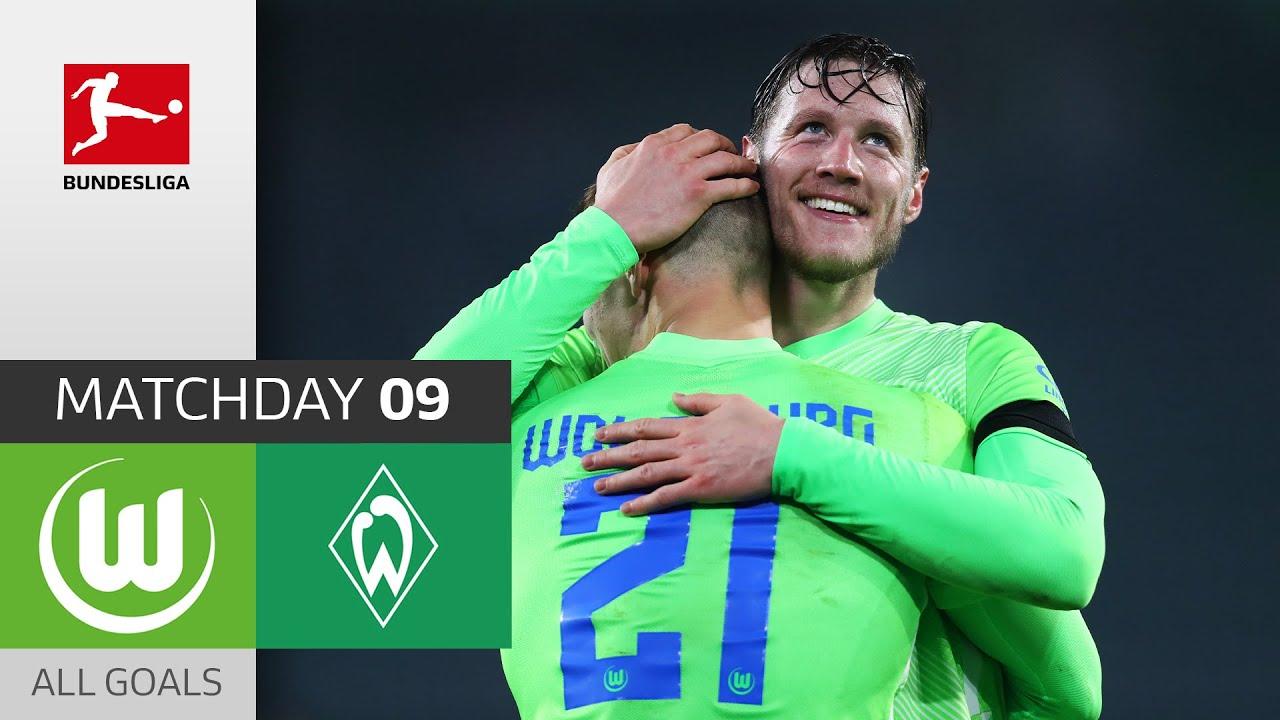 Download Weghorst decides 8-Goal Thriller | VfL Wolfsburg - Werder Bremen | 5-3 | All Goals | Matchday 9