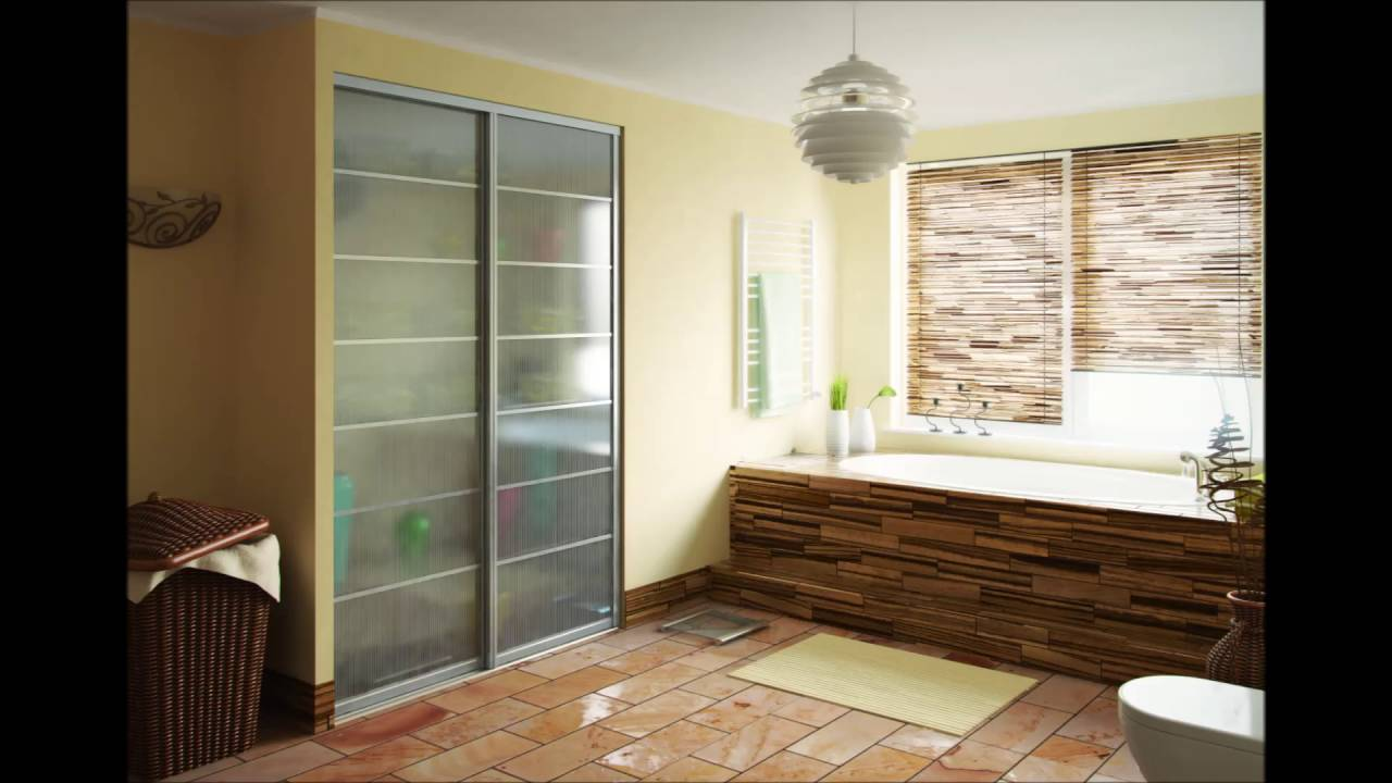 Frosted glass interior bathroom doors - Private Bathroom With Small Bathtub And Frosted Glass Door