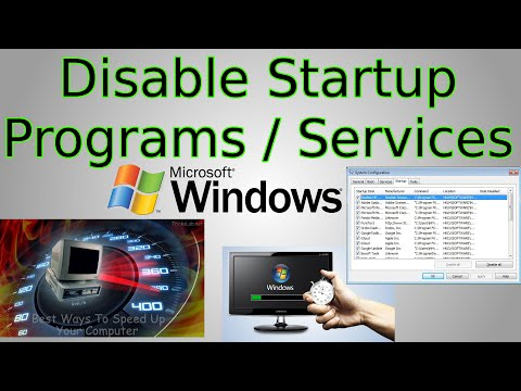 Windows 10: Disable Startup Programs & Startup Services (speed up computer with msconfig)