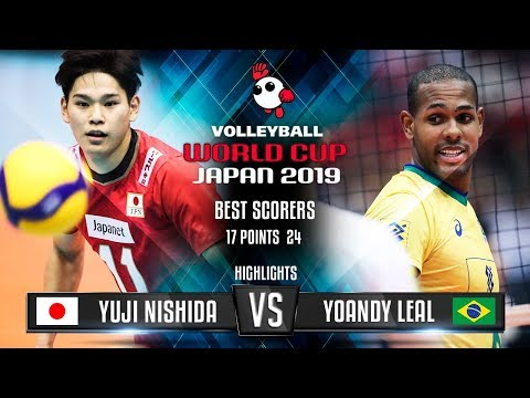 Highlights | Japan Vs. Brazil | Yuji Nishida Vs. Yoandy Leal | World Cup 2019