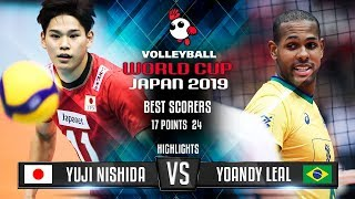Highlights | Japan vs. Brazil | Yuji Nishida vs. Yoandy Leal | World Cup 2019