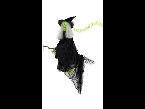 "07103---""neon-animated-&-talking-flying-witch-on-broom"""