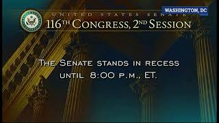 Tras un segundo receso, los senadores continúan con la primera sesión del juicio político a Trump.