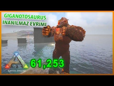Giganotosaurus Tüm Evrimleri Süper Lord Dinozorlar | ARK Türkçe #18 ARK Comes Alive