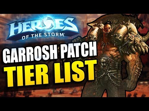 Nubkeks' Heroes of the Storm Tier List // Garrosh Patch - 2017 Season 2