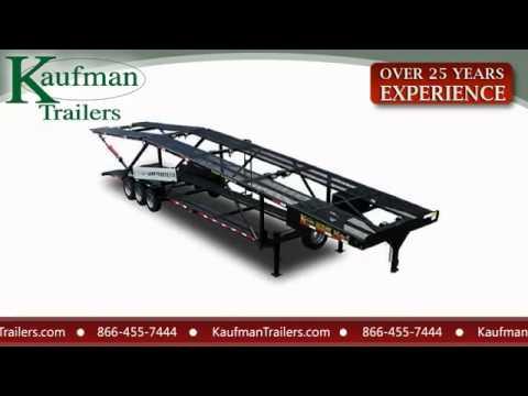 Kaufman Car Trailers Kaufman Wedge Car Trailers Youtube