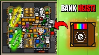 Surviv.io COPS VS ROBBERS BANK HEIST!! MOST LOOT EVER Found In the Vault!! (Surviv.io Highlights)
