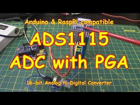 #104 ADS1115 Analog-to-Digital Converter For Arduino, Pi 🥧& All (2018)