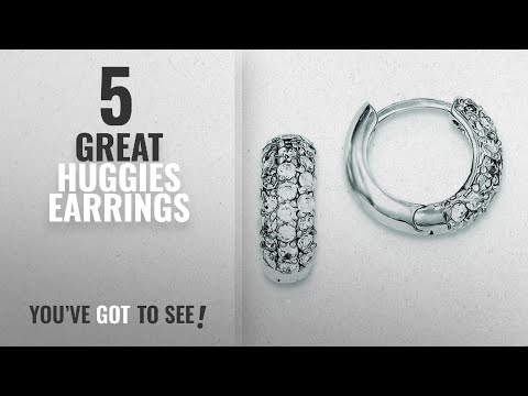 10 Best Huggies Earrings [2018]: .925 Sterling Silver 14 MM Pave CZ Huggie Earrings