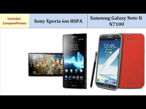 Sony Xperia ion HSPA VS Samsung Galaxy Note II, Detailed Look