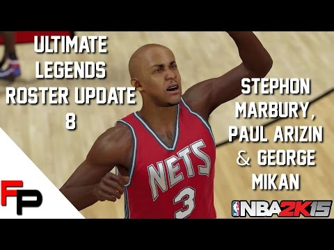 NBA 2K15 - Stephon Marbury, Paul Arizin and George Mikan - Ultimate Legends Roster - Update 8