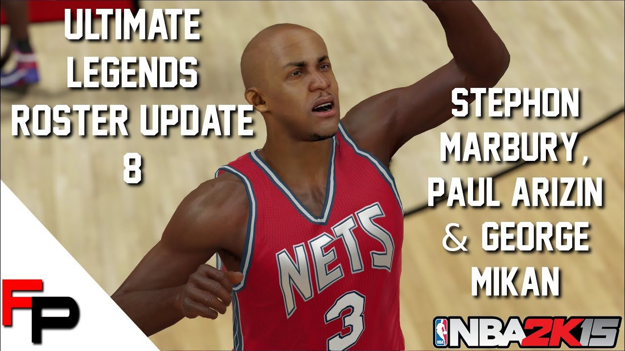 NBA 2K15 Stephon Marbury Paul Arizin and George Mikan
