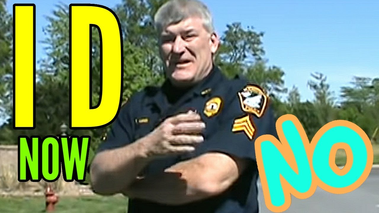 Most uneducated cops on internet make up laws for id & get owned  first amendment audit fail