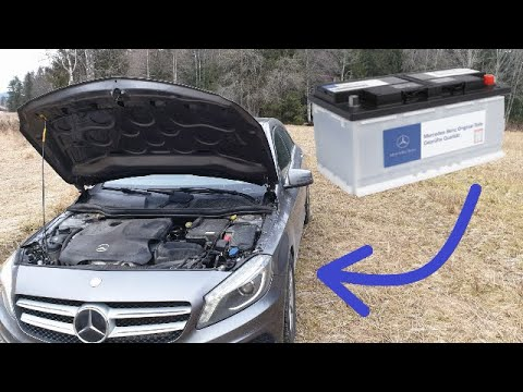 Mercedes w176 A180 Battery Replacement – how to – DIY