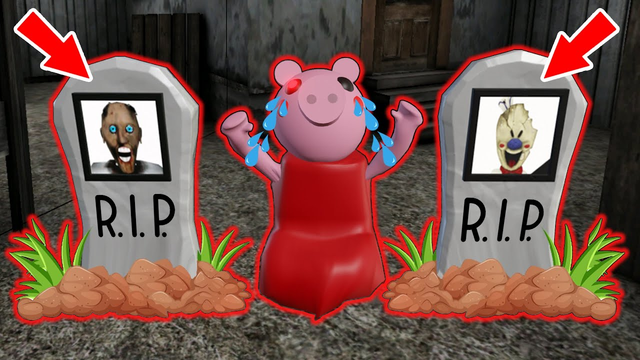 Granny and Ice Scream vs Piggy - funny horror animation parody (part 25)