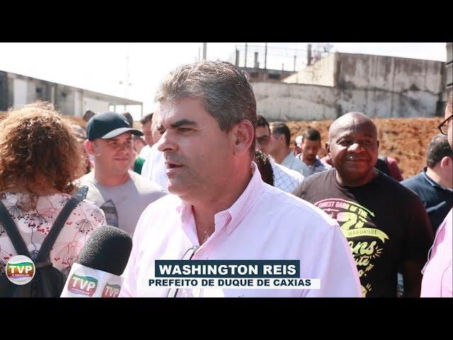 WASHINGTON REIS E PEZÃO ANUNCIAM INÍCIO DAS OBRAS DE ABASTECIMENTO E TRATAMENTO DE ÁGUA