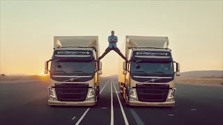 Demonstration of the unique technology Volvo Dynamic Steering complete with Jean-Claude Van Damme