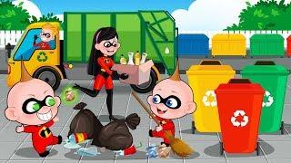 The Incredibles 2D English Episodes | Parr Family Adventures Trip | Cartoons Part 1