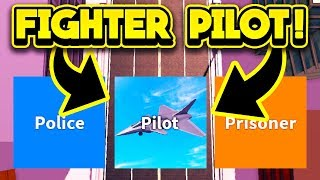 PLAYING JAILBREAK AS A FIGHTER PILOT! (ROBLOX Jailbreak)