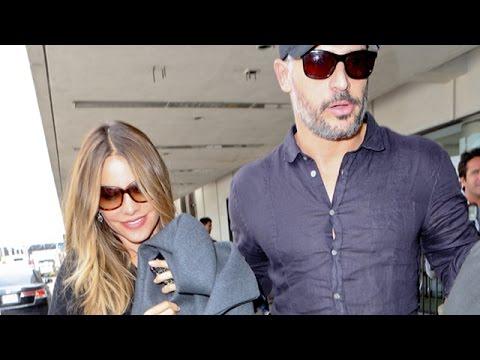 Sofia Vergara And Joe Manganiello Push Through At LAX